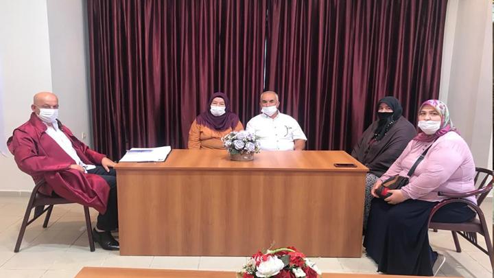Emine Husan ile İbrahim Alkan çiftinin nikah akdini gerçekleştirdik