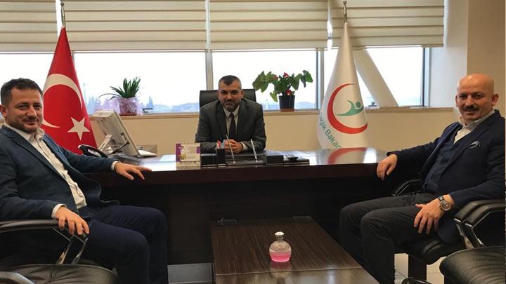 Düzce Atatürk Devlet Hastanesi Başhekimi Op.Dr. Ahmet Zengin'i makamında ziyaret ettik