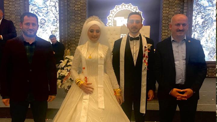 Dr. İbrahim Sönmezoğlu ile Büşra Güner'in düğün merasimine katıldık