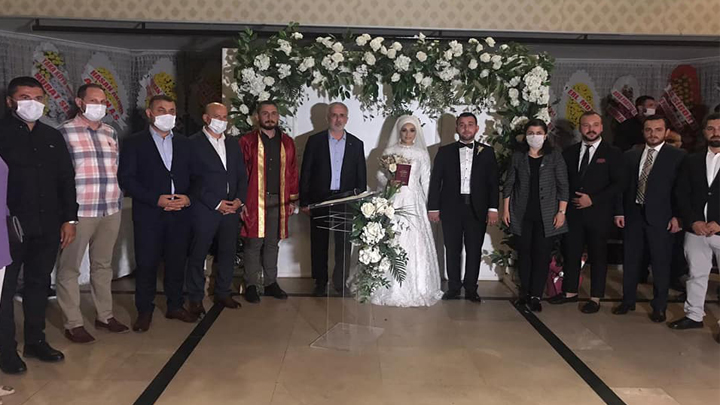Şükrü Sert ile Gülsu Kandemir'in düğün merasimine katıldık