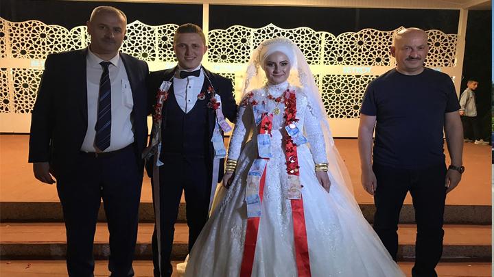 Ecenur Yıldız ile Tolga Ölmez'in düğün merasimine katıldık