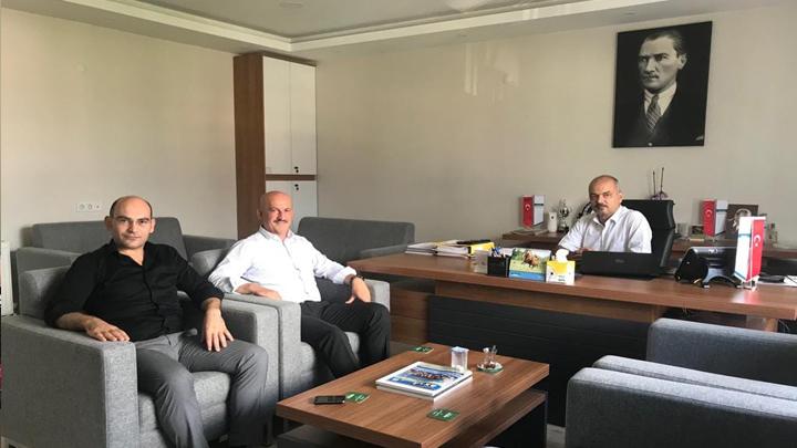 Dergaz Bölge Müdürü Ender Onur'a çalışma ziyaretinde bulunduk