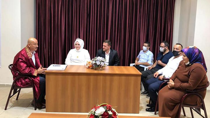 Senanur Ercan ile Özgür Sarıgüzel'in nikah akdini gerçekleştirdik