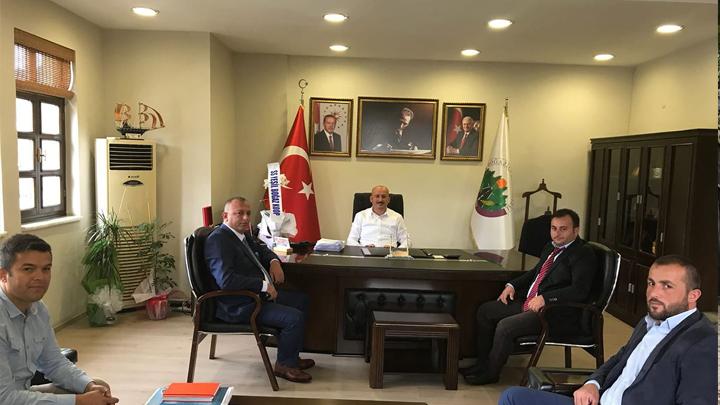 SS.Yeşilboğaz Kooperatif Başkanı Akif Koç ve yönetim kurulu üyelerinin ziyareti