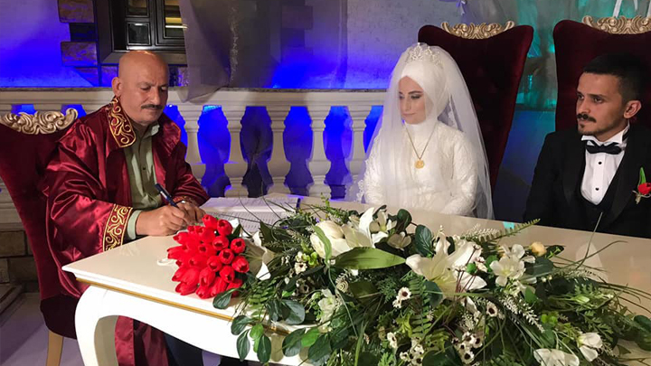 Esra Çabuk ile Uğur Yavuz'un nikah akdini gerçekleştirdik