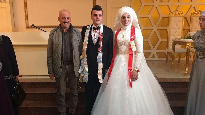 Rümeysa Acar ile Emre Özcan çiftinin düğün merasimine katıldık