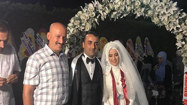 Hatice Yüksel ile Murat Çakır çiftinin düğün merasimine katıldık