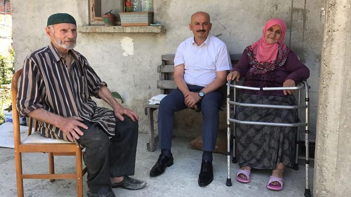 Fatma ve Neşet Sert çiftini evlerinde ziyaret ettiK