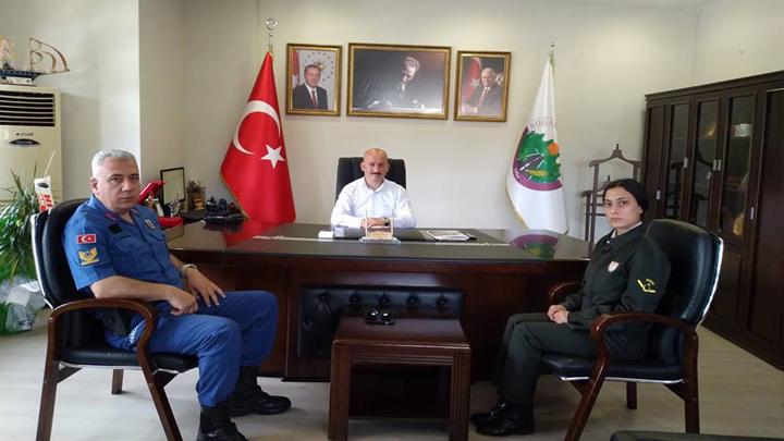 Konuralp Jandarma Karakol Komutanının Ziyareti