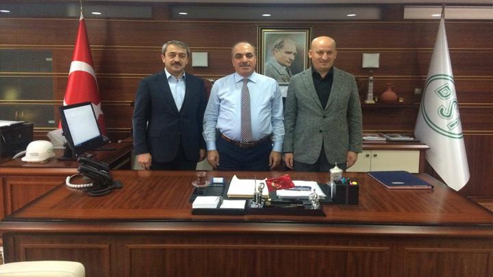 DSİ 5.Bölge Müdürü Sayın Mahmut Dündar'a çalışma ziyaretimiz