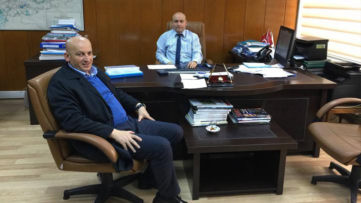 DSİ Bölge Müdür Yardımcısı Mahmut YÜZER'e çalışma ziyaretimiz
