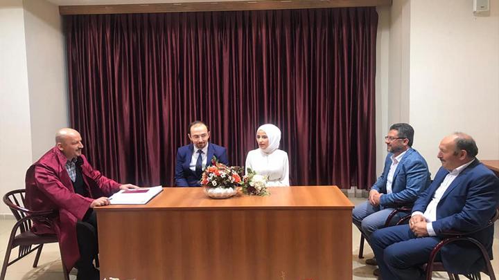 Sümeyye Tetik ile Recep Bilal Albayrak çiftinin nikah akdini gerçekleştirdik