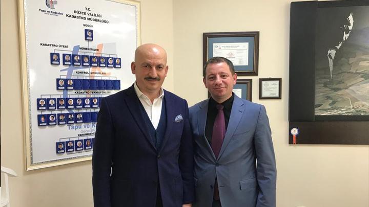 Düzce Kadastro Müdürü Sayın Cihad Bilgehan Yalçın'a çalışma ziyaretimiz