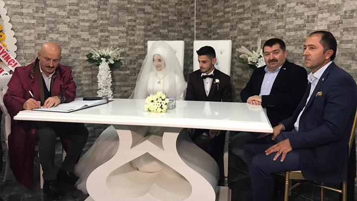 Hanife Yılmaz ile Hamdi Özgürel'in düğün merasimine katıldık