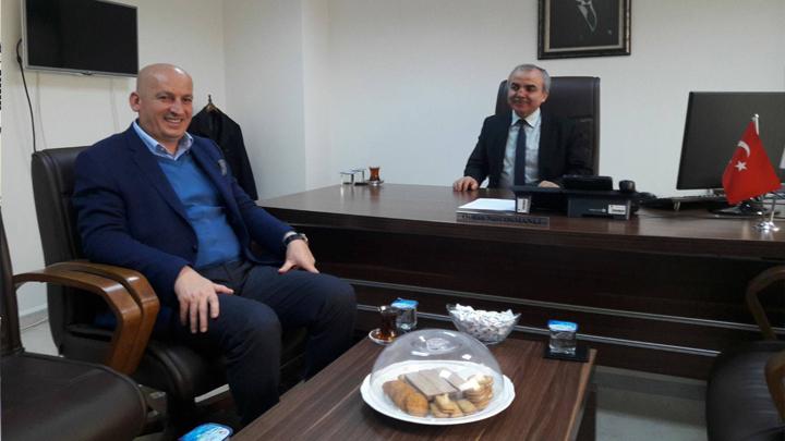 Mekansal Planlama Daire Başkanı Osman Nuri OSMANLI'ya çalışma ziyaretiMİZ