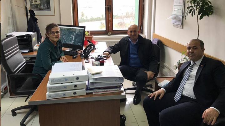 DSİ Havza Yönetim İzleme ve Tahsisler Şube Müdürü Seher Varol'a çalışma ziyaretimiz
