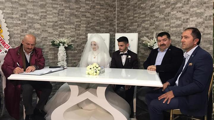 Hüsnü Yılmaz ile Sena Yıldız'ın düğün merasimine katıldık