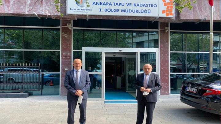 Tapu Kadastro Genel ve Bölge Müdürlüğüne çalışma ziyareti