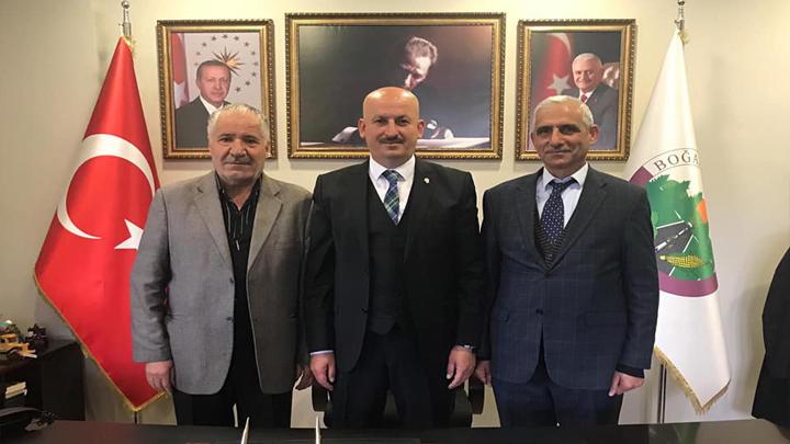 BAŞKAN ERCAN'A TEBRİK ZİYARETLERİ