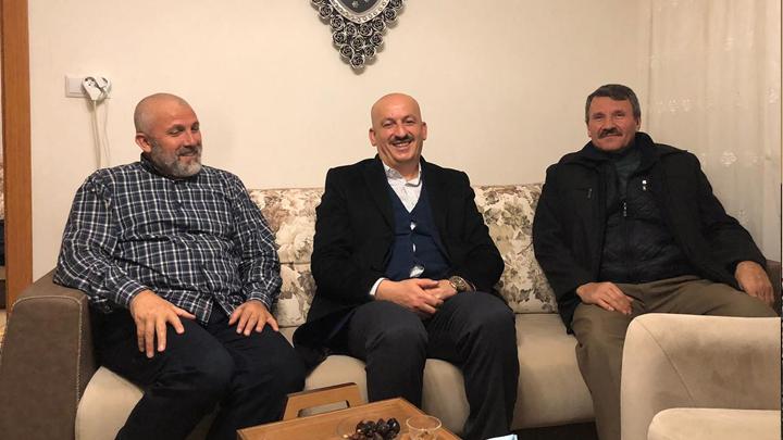 Kutsal topraklardan dönüş yapan Mehmet Duman'a hoş geldin ziyaretimiz