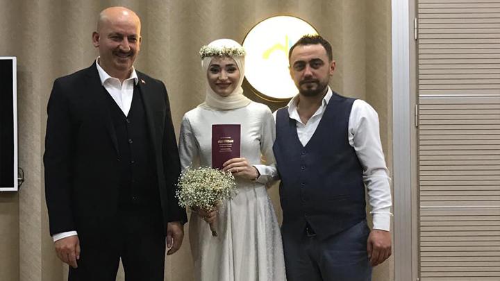 Şeyma Yazgeldi ile Emre Güler'in nikah merasimine katıldık