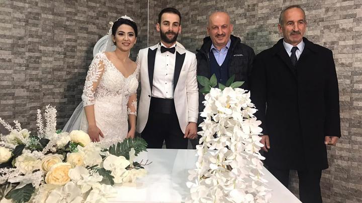 Özge Alptekin ile İrfan Aman'ın düğün merasimine katıldık