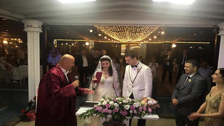 Melda Kut ile Burak Koç'un nikah akdini gerçekleştirdik