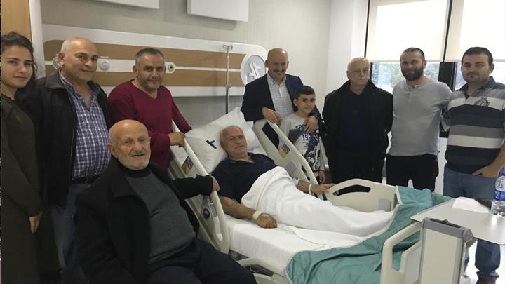 HHacı Muzaffer Yeşildağ'a hastanede geçmiş olsun ziyaretinde bulunduk