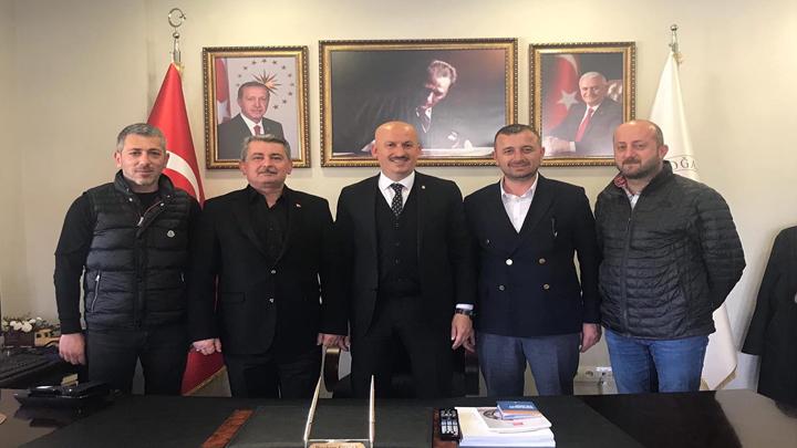 AK Parti Düzce Merkez İlçe eski başkanı Durmuş Arslan'ın tebrik ziyareti