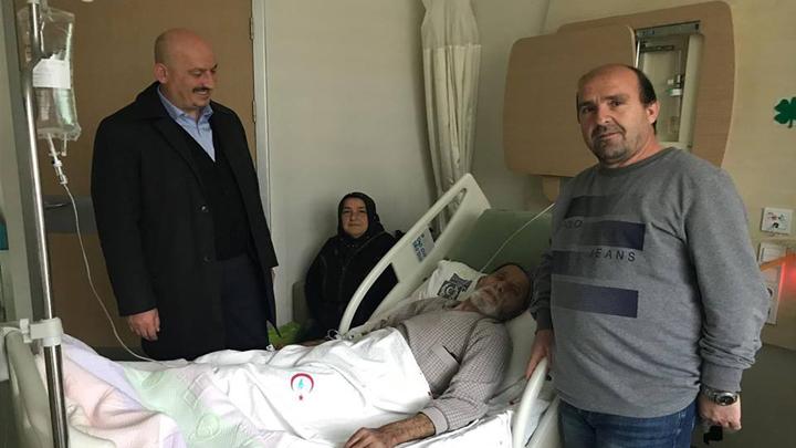 Neşet Sönmezoğlu'na geçmiş olsun ziyaretinde bulunduk