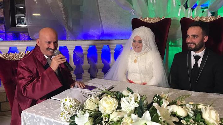 Sevim Akdeniz ile İrfan Demir çiftinin nikah akdini gerçekleştirdik