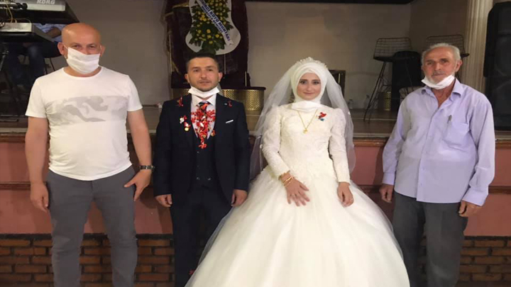 Emine Sağlam ile İsmail Kalender?in düğün merasimine katıldık