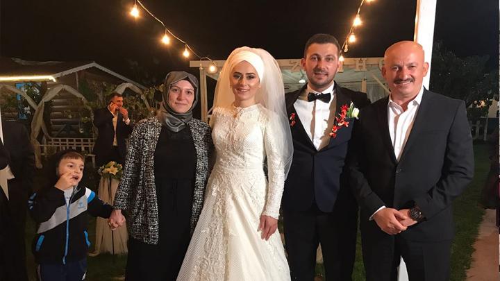Nurcan Kurt ile Samet Alpay çiftinin düğün merasimine katıldık