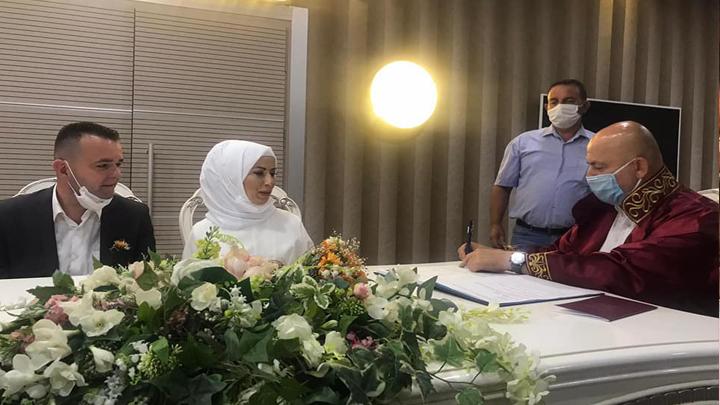Sevilay Şeker ile AK Parti Boğaziçi Belde Başkanı Korhan Kara'nın nikah akdini gerçekleştirdik