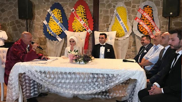 Merve Dudak ile Abdülkerim Alemdar'ın düğün merasimine katıldık.