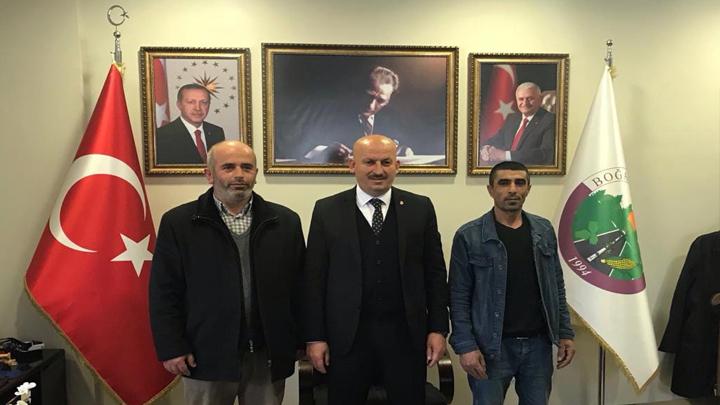 Usta Kardeşler İnşaat firması çalışanlarının tebrik ziyareti