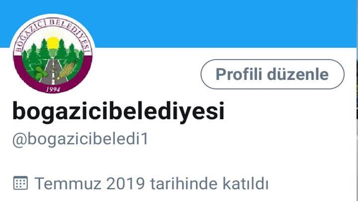 Boğaziçi Belediyesi Twitter'da.