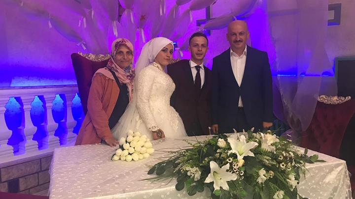 Belma Kaplan ile Recep Yiğit'in düğün merasimine katıldık.
