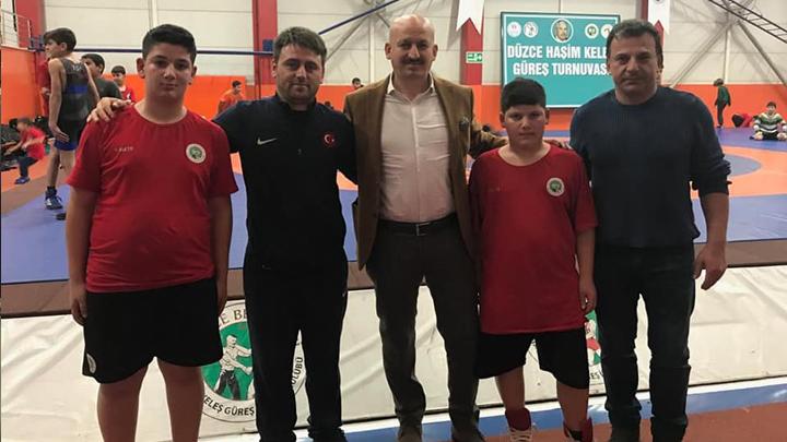 Düzce Haşim Keleş Güreş İhtisas Kulübünde düzenlenen turnuvaya katıldık.
