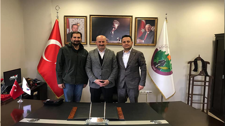 İnşaat Mühendisi Orkun Bilici ve yardımcısı İnşaat Mühendisi Yasin Yılmaz'ın Belediyemizi Ziyareti