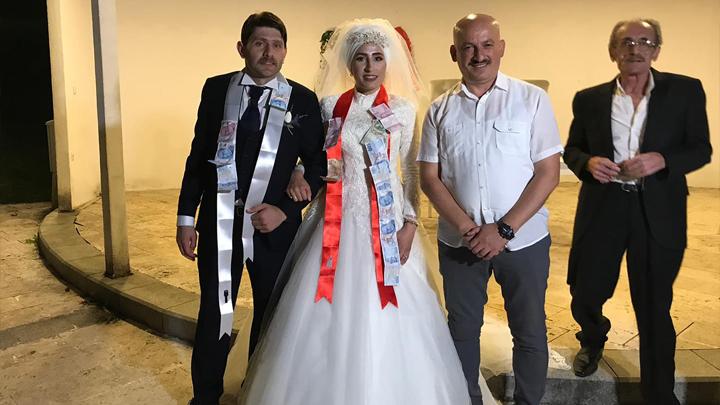 Canan Duman ile Yalçın Aslan'ın düğün merasimine katıldık