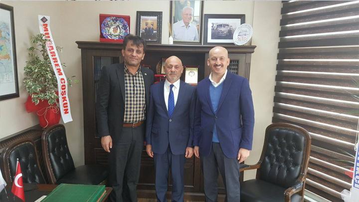 Şoförler ve Otomobilciler Odası Başkanı Yavuz Yılmaz 'a hayırlı olsun ziyaretimiz