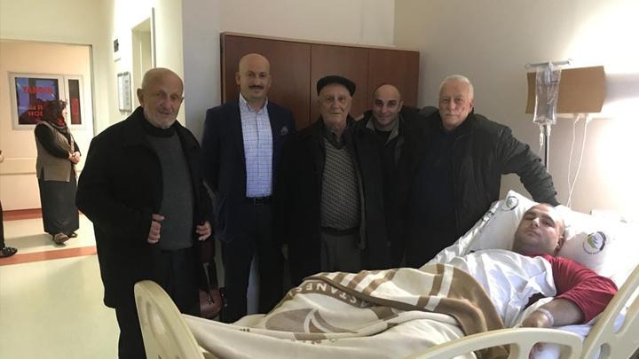 Yusuf Ercan'a hastanede geçmiş olsun ziyaretinde bulunduk