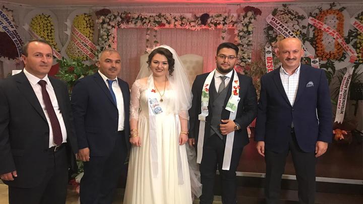 Rıdvan Koç ile Edanur Elibol çiftinin düğün merasimine katıldık