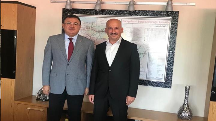 Karayolları 4.Bölge Müdürü Öner Özgür'e çalışma ziyaretimiz.