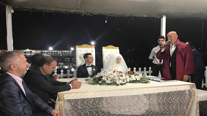 Beyza Sert ile Ali Ercan çiftinin nikah akdini gerçekleştirdik