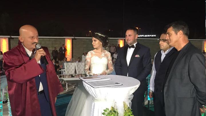 Seda Beyaz ile Serdar Duman çiftinin nikah akdini gerçekleştirdik