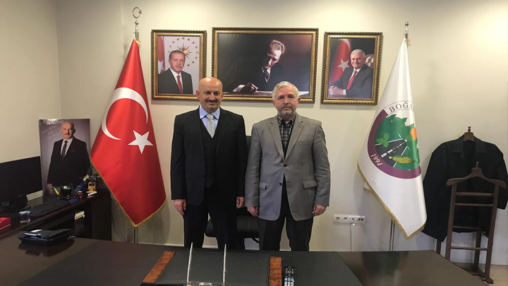 Ankara İl Müftüsü Mehmet Sönmezoğlu'nun tebrik ziyareti