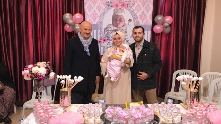 Ayşenaz'ın bebek mevlidine katıldık.